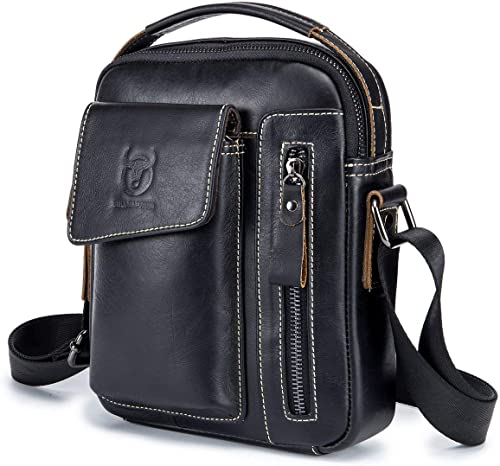 New Men/'s Shoulder Crossbody Bag Casual Leather Handbag Casual Messenger Bag