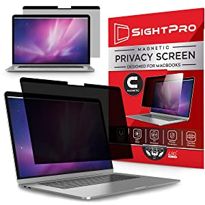 SightPro Magnetic Privacy Screen for MacBook Pro 15 Inch (2016, 2017, 2018, 2019) | Laptop Privacy Filter and Anti-Glare Protector