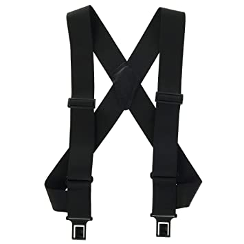 62c9e79e2bf Perry Outback Comfort Suspenders 2 quot  Big   Tall Clip-On Belt Suspenders  - Black