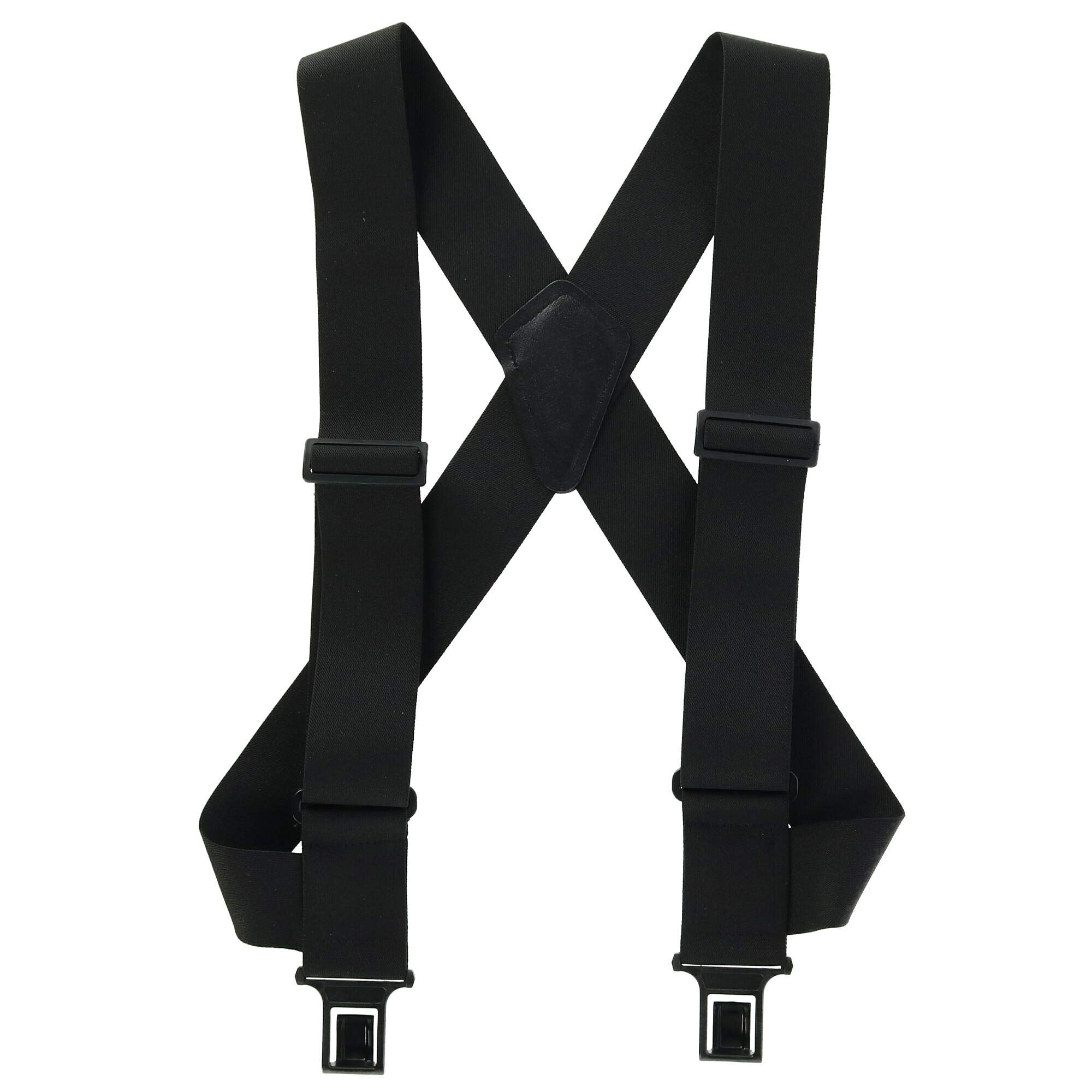 2 inch Perry Outback ''Comfort'' Suspenders (Wear Like a Vest) (Black,Regular size)