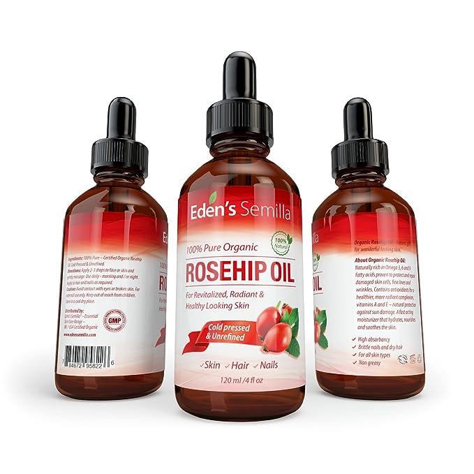 Aceite de Rosa Mosqueta (60ml). Aceite orgánico certificado. Prensado en frío y sin refinar. 100% puro y natural.: Amazon.es: Salud y cuidado personal
