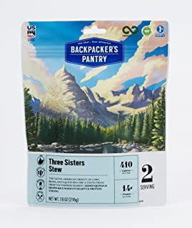 product image for Backpacker's Pantry Three Sisters Stew, 2 Servings Per Pouch, Freeze Dried Food, 14 Grams of Protein, Gluten Free, Vegan