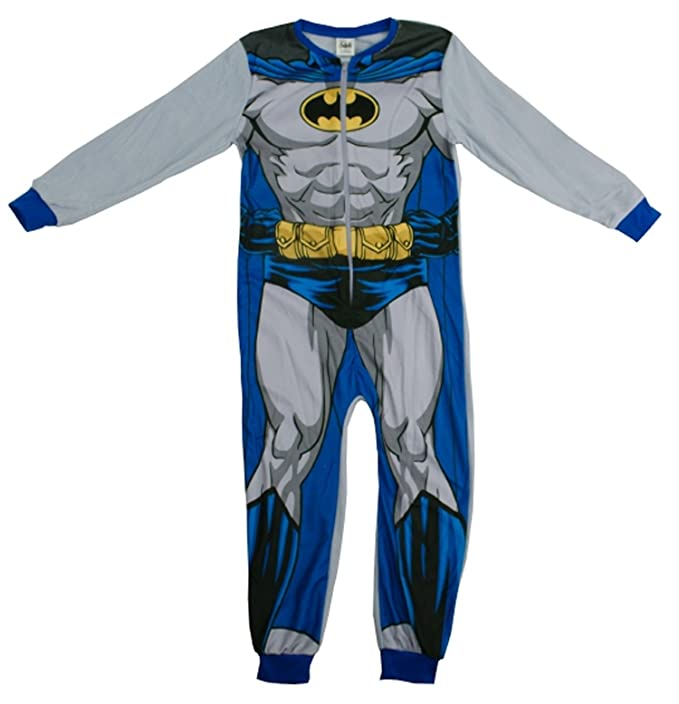 Boys Official BATMAN One Piece fleece Sleepsuit Pyjamas All In One Age 2-8 Year