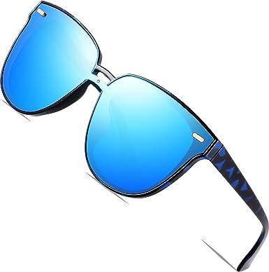 SIPLION Damen Wayfarer Sonnenbrille UV400 Schutz Polarisierte D177 Blue 7Sxzo