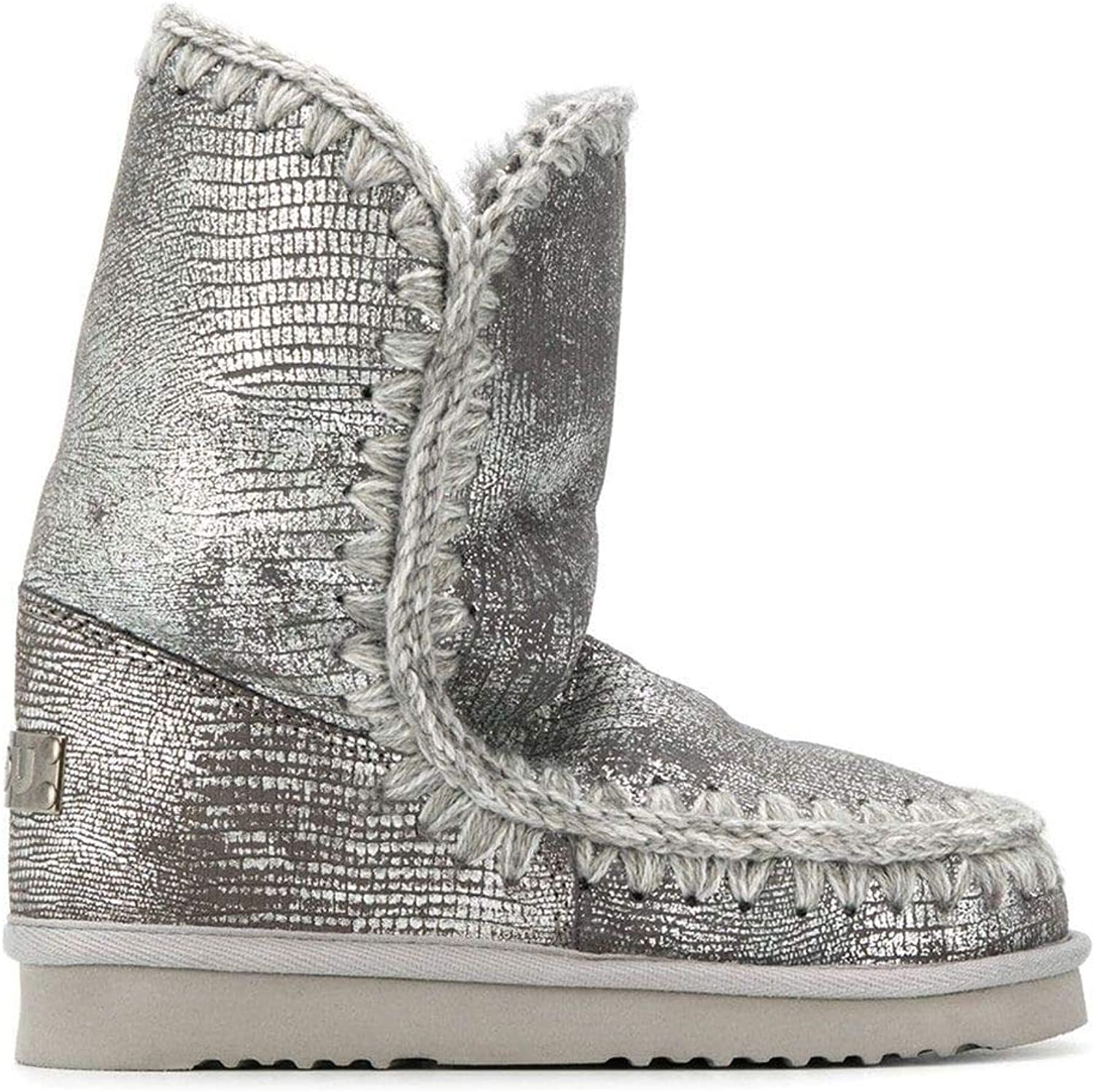 Mou Luxury Fashion Womens FW101000CGKSIROSILVER Silver Ankle Boots | Fall Winter 19 71JWipHpH8LUL1500_