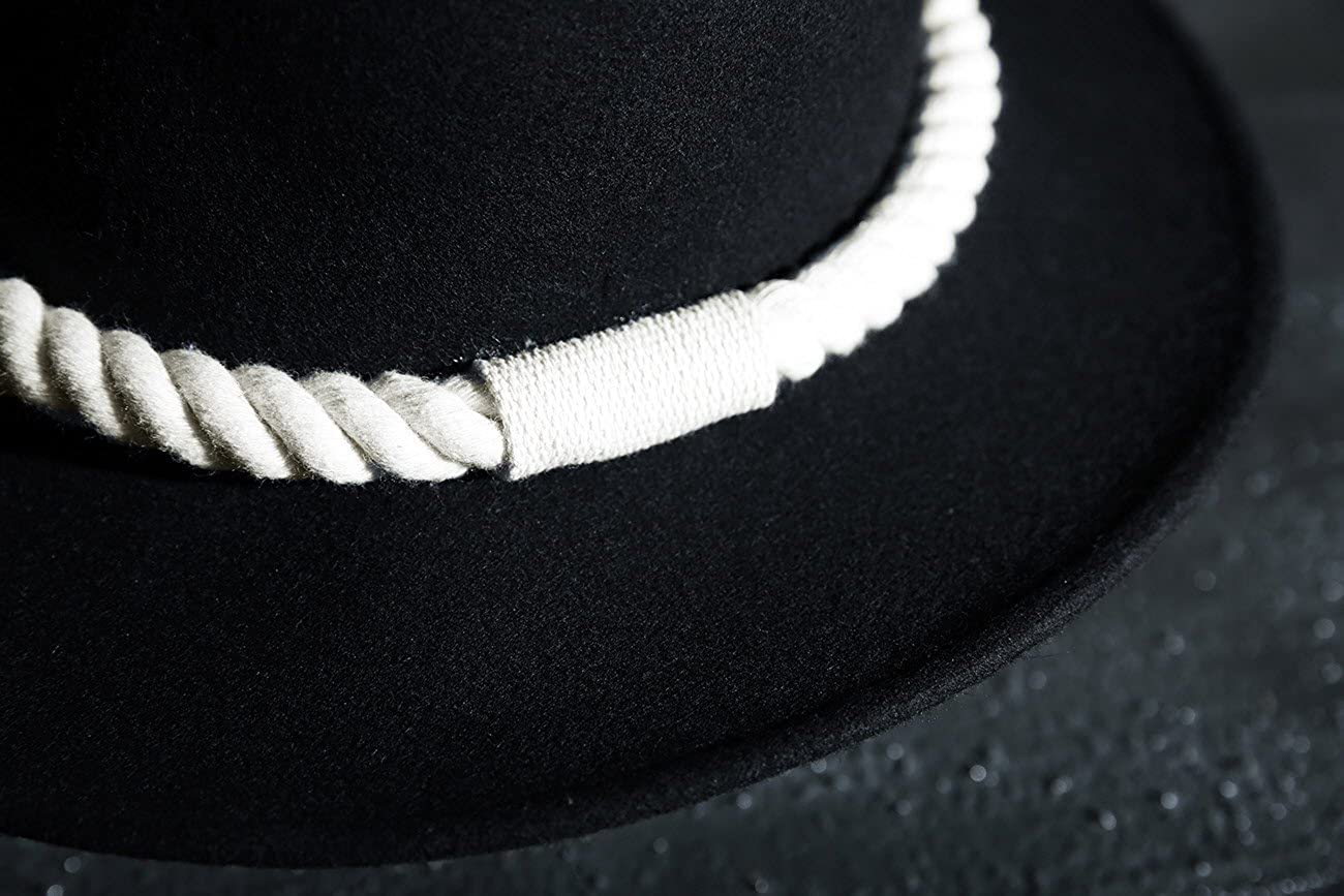 ByTher Men s Dark Rope Decoration Wool Felt Mountain Fedora Hat Ivory   Amazon.ca  Clothing   Accessories 8293f051d5f8
