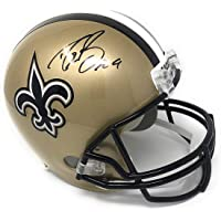 $299 » Drew Brees New Orleans Saints Signed Autograph Full Size Replica Helmet Certified