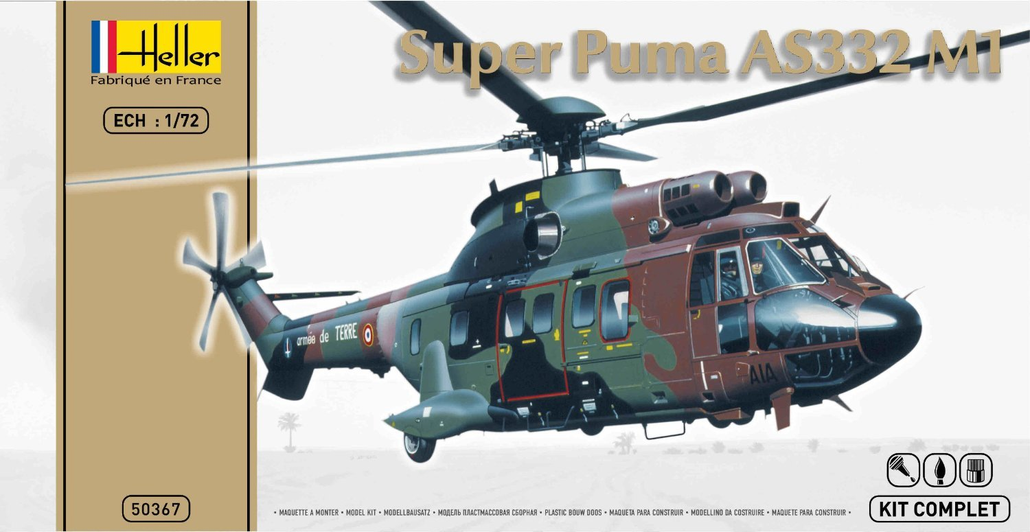 Amazon.com: Heller - 50367 - Maquette - Super Puma AS332 M1 ...