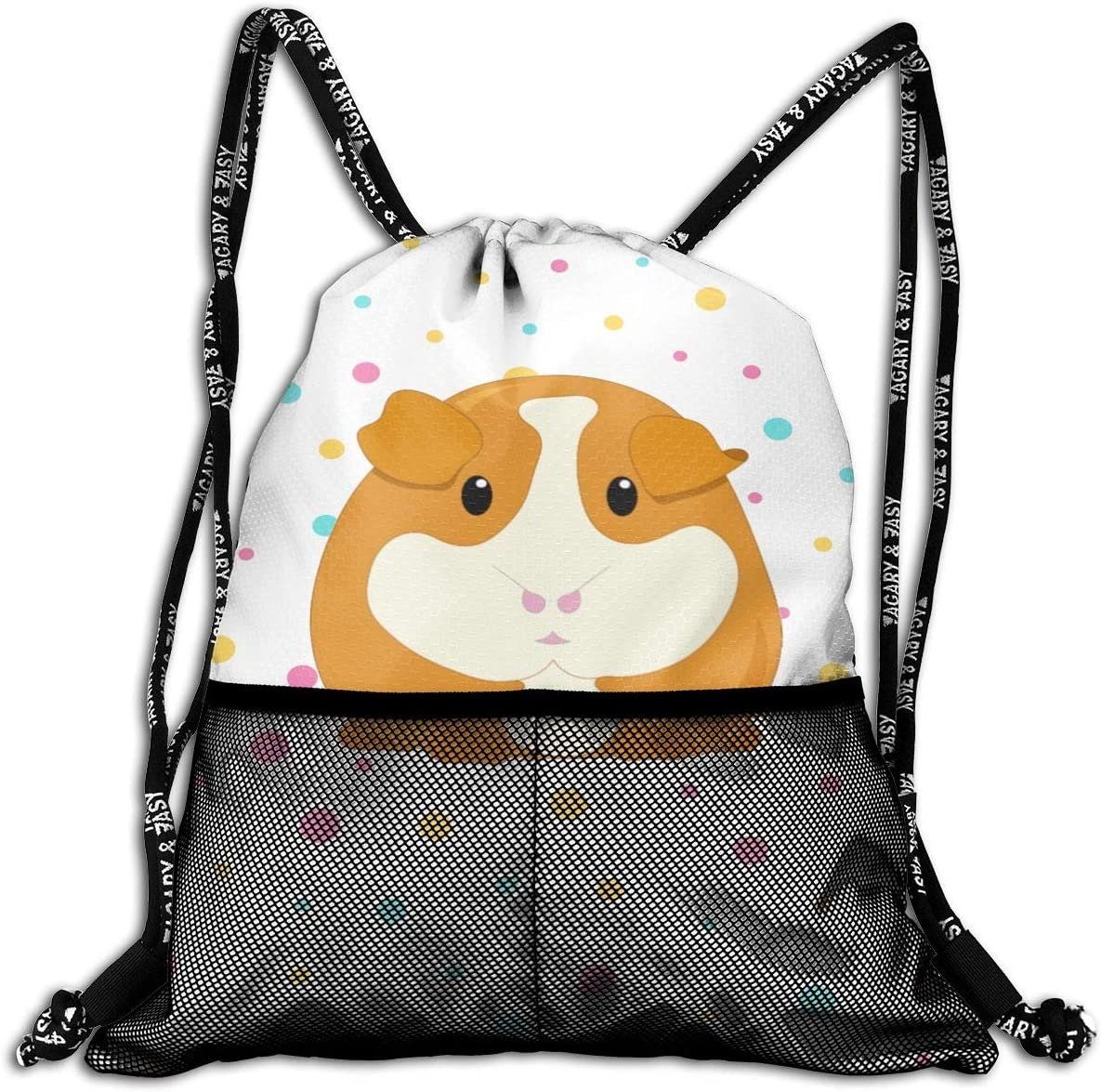 Drawstring Backpack Cute Guinea Pig Bags