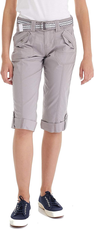 Adjustable Length Stretchy Size 2 to 22 Plus Suko Womens Cargo Capri Pants