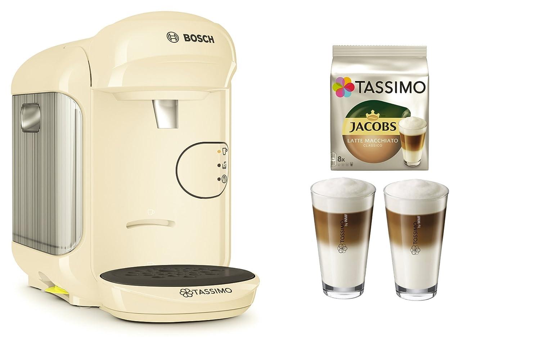 Cafetera Tassimo Vivy 2 de Bosch Bundle + vasos de latte macchiato ...