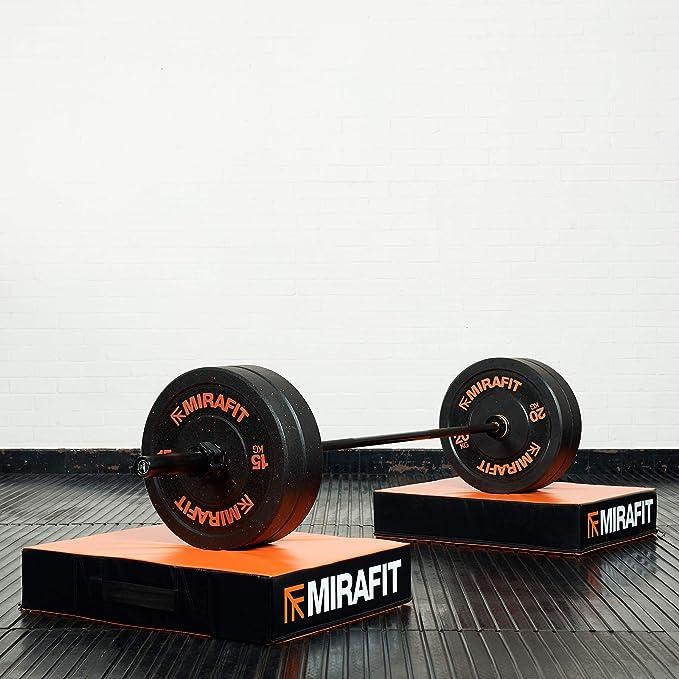 Black Mirafit Weightlifting Barbell Drop Pads