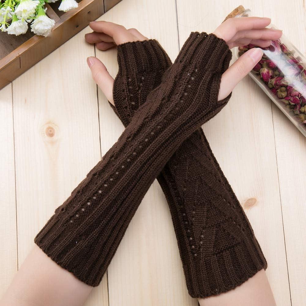 JAMZER Hot Sale Mens Womans Winter Warm Knitted Spring Autumn Twist Fingerless Gloves Winter Arm Warmer Long Knit Mitten 2019
