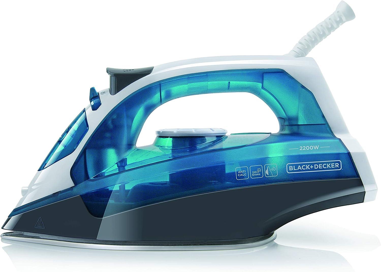 Black+Decker BXIR2200E Plancha de vapor, 2200 W, Plástico, Azul