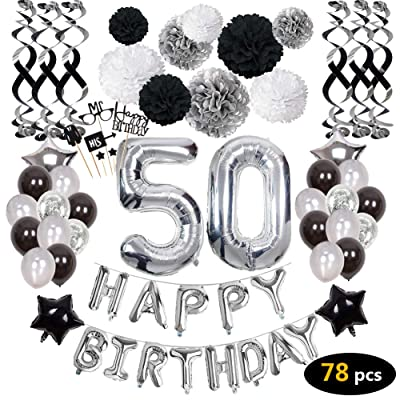 Admirable 50Th Birthday Decorations 50Th Birthday Party Supplies Personalised Birthday Cards Sponlily Jamesorg