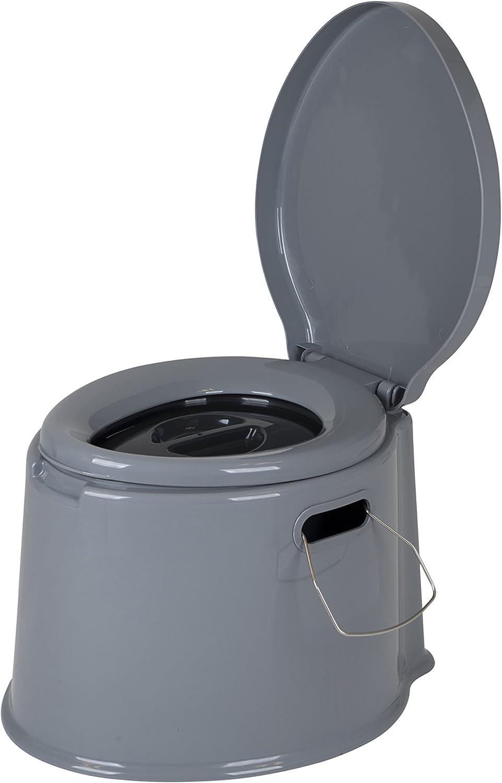 Embouteillages perfecti Camping Toilettes Seau Portable Si/ège De Toilette en Plastique Pliable Antid/érapant avec Panier Lavable Et Porte-Rouleau De Papier Toilette pour Randonn/ée Voyages
