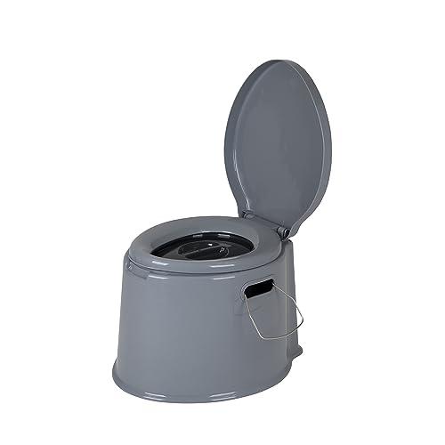 Bo-Camp - Toilette Portable - 7 ltr - Gris