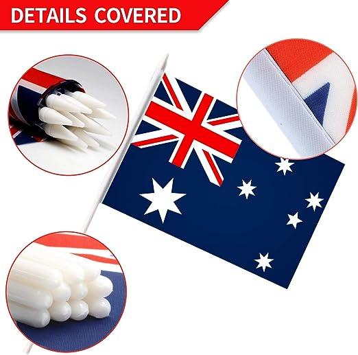Australian String Flags 15 x 21 cm Australia 6 Meters Bunting Flag 20 Flags 9 x 6 Drapeau Australie AZ FLAG