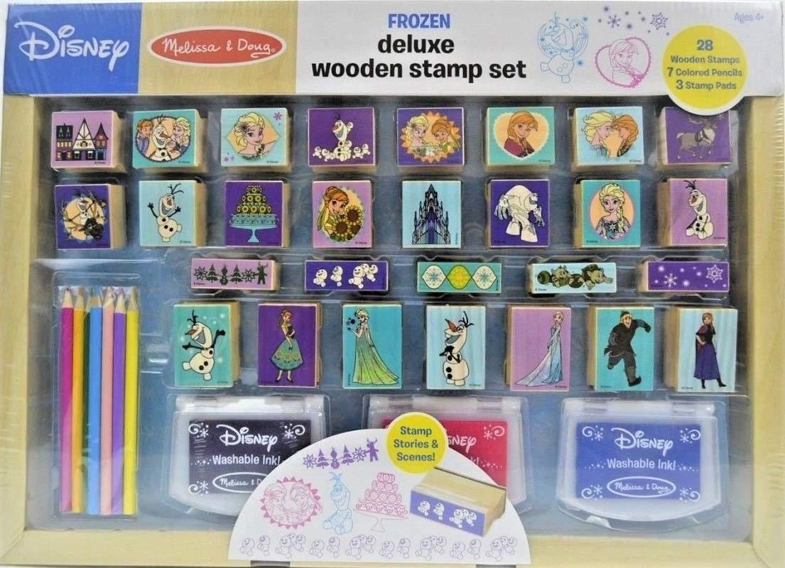 Melissa Doug Disney Frozen Deluxe Wooden Stamp Set