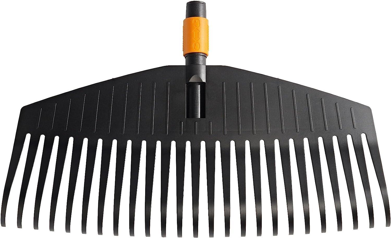 Fiskars Rastrillo para hojas, 25 dientes, Longitud: 50 cm, Negro/Naranja, 1000642
