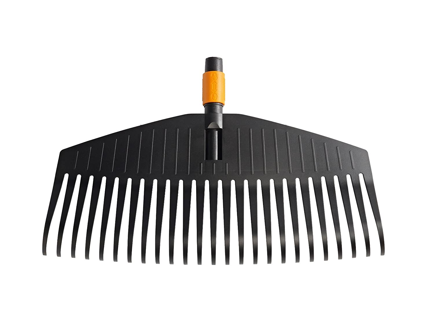 Fiskars QuikFit Leaf Rake S, Tool head, 11 prongs, Length: 21.3 cm, Plastic Prongs, Black/Orange, 1000659 Fiskars (outdoor) UK Ltd 135551 Draper Leaf Rake Faithfull Leaf Rake
