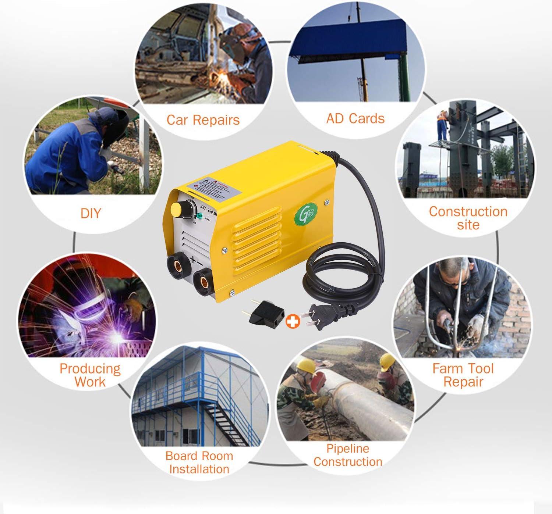 Soldadora de arco 250Amps M/áquina de soldadura IGBT Mini soldadora el/éctrica port/átil antiadherente para varillas de 2.5-3.2 mm para soldar trabajos el/éctricos con juego de seguridad