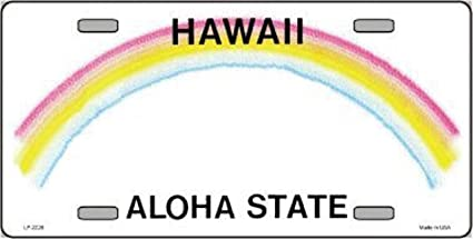 Hawaii Novelty State Background Blank Metal License Plate LP 2226