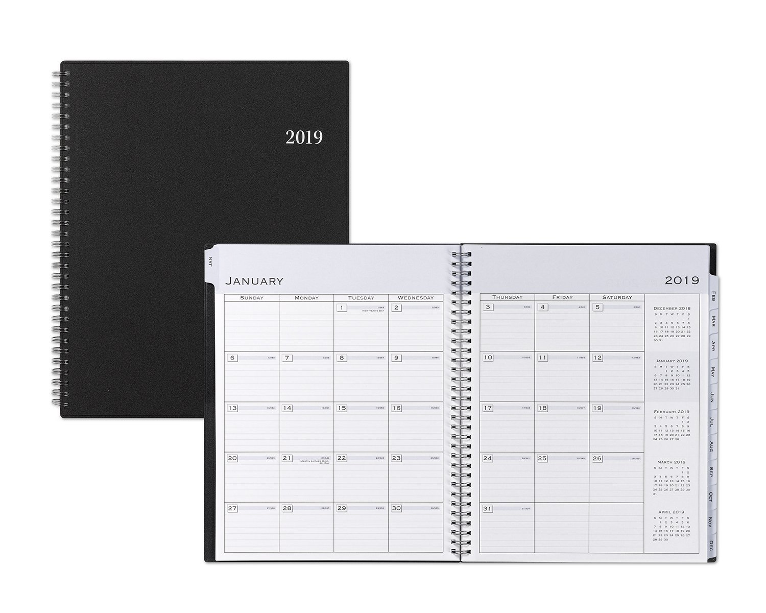 """Amazon.com : Blue Sky 2019 Weekly & Monthly Appointment Book & Planner,  15-Minute Increments, Flexible Cover, Twin-Wire Binding, 8.5"""" x 11"""", ..."""