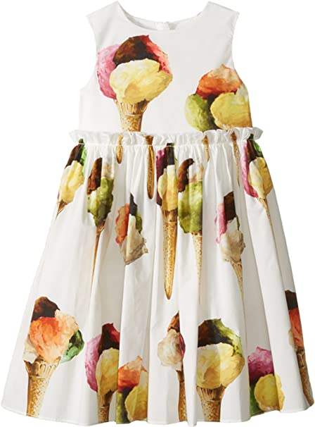 b1f482cdbc Dolce   Gabbana Kids Baby Girl s Gelato Poplin Dress (Toddler Little Kids)  White