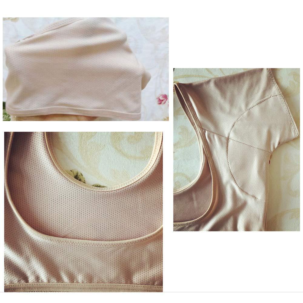 Ultra Delgado L REFURBISHHOUSE Color de Piel La Camiseta de La Almohadilla Absorbente Del Sudor de Underarm Puede Lavar Y Reutilizar Las Axilas Sujetador Para Correr Que Absorbe El Sudor