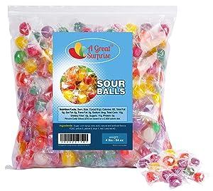 Hard Candy – Sour Hard Candy – Washburn Sour Balls - Sour Balls Hard Candy – Bulk Candy – 4 Pounds