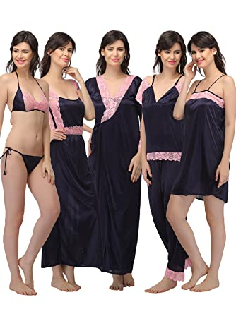 3a3974c2b2 Clovia Women s Satin Nightwear Set (NS0564P08 O