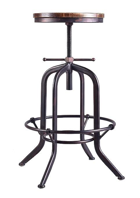 Remarkable Amazon Com Industrial Bar Stool Vintage Adjustable Metal Inzonedesignstudio Interior Chair Design Inzonedesignstudiocom