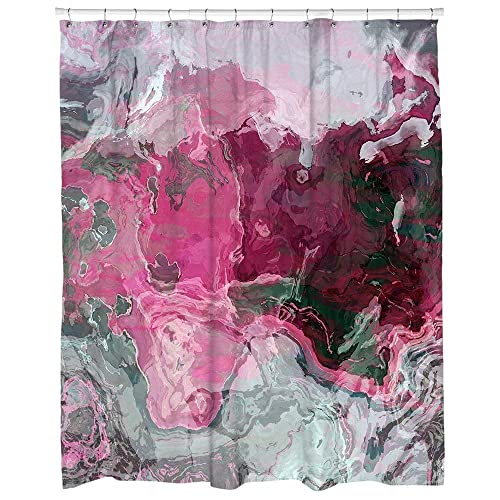 Amazon Abstract Art Shower Curtain In Hot Pink And Gray Raspberry Handmade