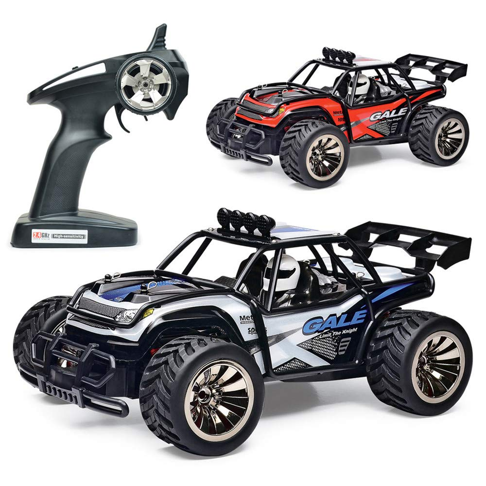 Jinjin 1:16 Scale RC Car Off Road Vehicle,2.4G Radio Remote Control Car 2W Racing Truk For Boys Toddlers Kids Gift (Red)