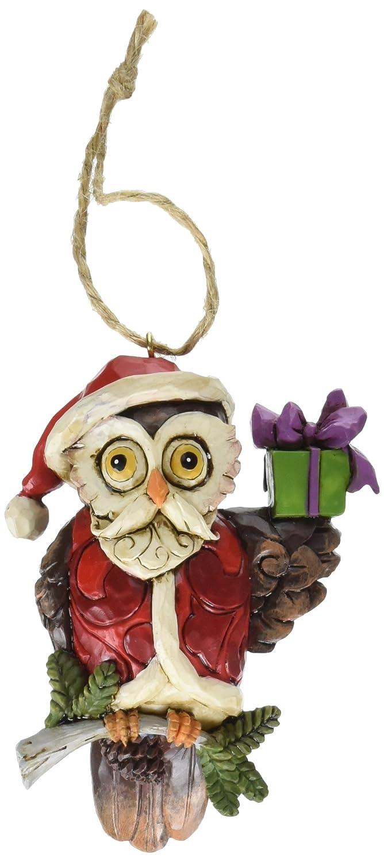 Owl Christmas Ornament Part - 35: Amazon.com: Jim Shore Heartwood Creek Christmas Owl Stone Resin Hanging  Ornament, 3.8u201d: Home U0026 Kitchen