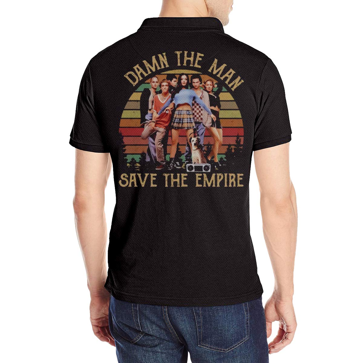 MJCoulombe Men Damn The Man Save The Empire Fashion Summer Short Sleeves Polo T-Shirt