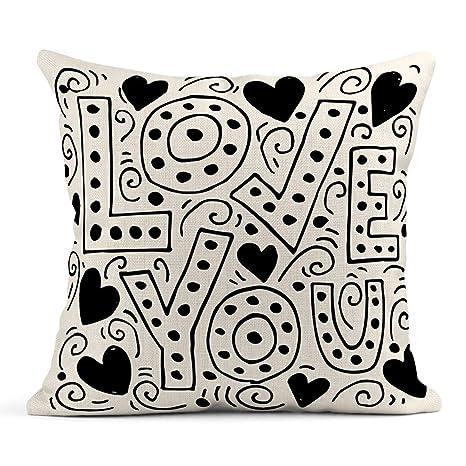 Kinhevao Cojín Frase de Amor para San Valentín Letras ...