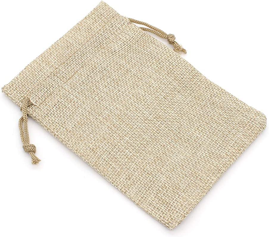 3.9 x 5.5 Inch Yuhtech 20 Packs Burlap Bags with Drawstring for Wedding Party Birthday Party Jewelry Pouches DIY Craft Gift Bags Simple Gray