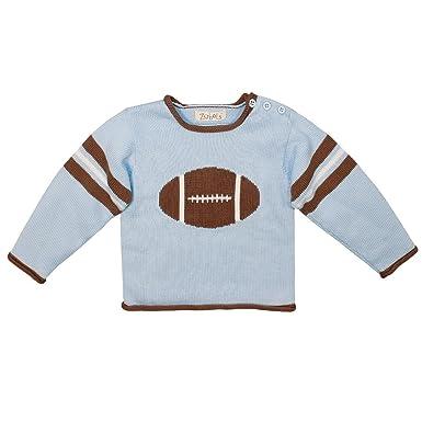 Amazon.com  Zubels 100% Hand-Knit Football Sweater All Natural ... 58beee9b2bab