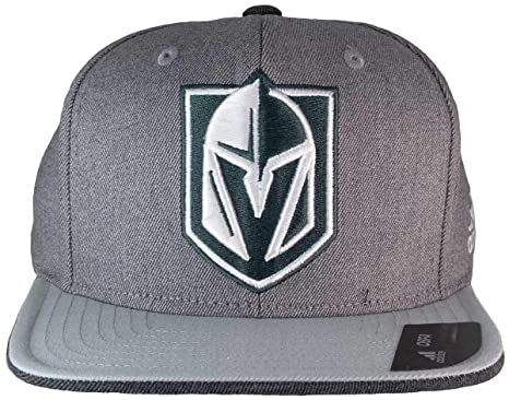 3423dfd671f Image Unavailable. Image not available for. Color  adidas Las Vegas Golden  Knights Gray Flat Brim Snapback Hat