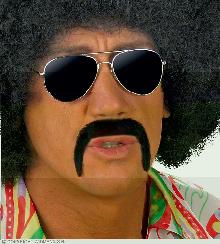 Black Mexican 70/'s Stick on Fake Mustache Self Adhesive tash.