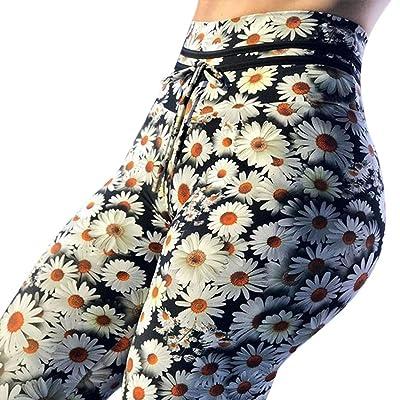 ABASSKY Daisy Print Yoga Pants Sweatpants Fitness Fashion Yoga Legging Sports Direct Womens Yoga Pants