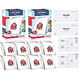 Miele FJM AirClean 3D Efficiency Vacuum Cleaner Bags -  Includes 8 Genuine Air clean  2 Genuine Super Air Clean Filter + 2 Ge