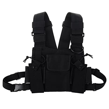 Amazon Kenmax Two Way Radio Chest Harness Bags Pack Holster. Kenmax Two Way Radio Chest Harness Bags Pack Holster Tactical Vest Rescue Essentials. Wiring. Leather Harness Radio Holster At Scoala.co