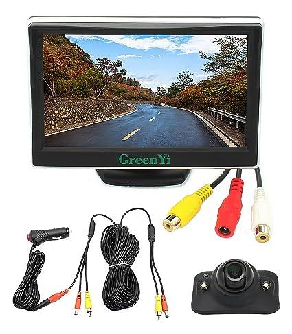 Amazon.com: Sistema de monitor de cámara lateral con cable ...