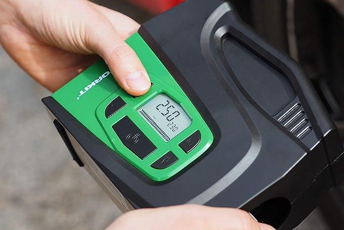 presi/ón m/áxima 100 PSI con luz led de 120 W inflado r/ápido Motorkit MOTOR16522 Compresor Digital con indicador 12 V
