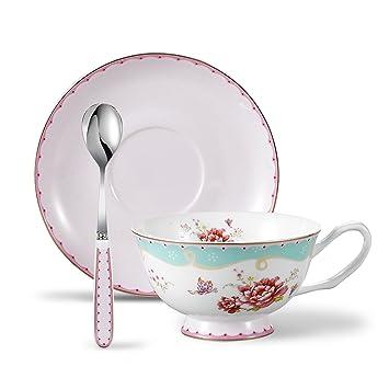 Panbado Service à Café Thé Anglais Tasse 200ml En Porcelaine à La