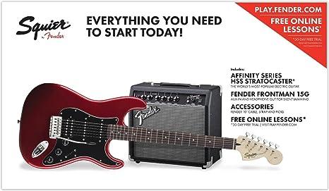 Fender Squier Affinity Pack HSS Guitarra eléctrica con ...