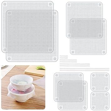 Silikon Napf Bezüge Stretch Food Saver Packungen Senhai 8 Stück